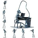 10 Inch Metal Musician Sculpture Orchestra Set - Includes 10 pieces of Unique Musician Metal Sculpture