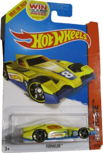 Hot Wheels 2014 Hw Race Thrill Racers Yellow Formul8r 153/250 - 1