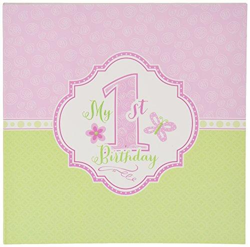 "Lillian Rose 1st Birthday Keepsake Memory Book, Pink, 7"""