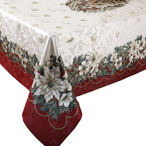 Christmas Tablecloth Xmas Table Decorations Cover Holiday