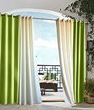 Outdoor decor Gazebo Indoor Outdoor Window Panels, 50 by 84, Green