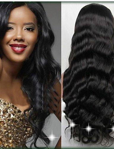 &G&g& nuovo 100% della parrucca fronte d'onda del merletto del corpo dei capelli umani brasiliani 10-30inch non trasformati&u parrucca . dark brown-30 inch