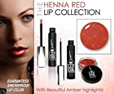 LIP INK Organic Vegan 100% Smearproof Henna Red Lip Stain Collection