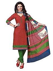 HIFI Ethnicwear Women's Dress Material(HIFI 3308_Brown_Free Size)
