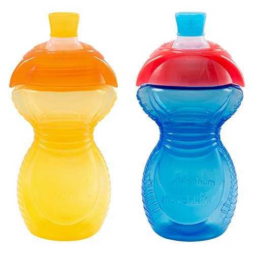 Munchkin Click Lock Bite Proof Sippy Cup, Yellow/Blue, 9 Ounce, 2 Count (Sippy Cups compare prices)