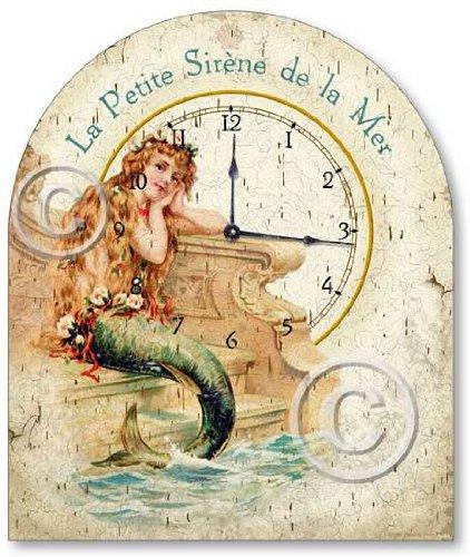 Item C1250 Vintage Style Little Mermaid Tabletop Clock