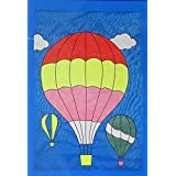 Hot Air Balloons Applique Summer House Flag Embroidered Decorative 28