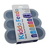 KIDDO FEEDO Food Storage Containers - Multipurpose Freezer Tray To Freeze Baby Food, Herbs, Ice Cubes, Sauces...