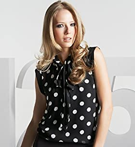 125 Years Bow Tie Spot Blouse - Marks & Spencer :  blouse marks spencer retro dots