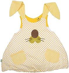 Absorba Baby Girls' Dress ( Yellow_6-12 Months ,60004)