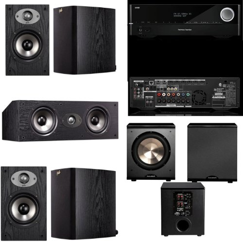 Polk Audio Tsx110 5.1 Home Theater System (Black) Harman Kardon Avr 1710 700-Watt