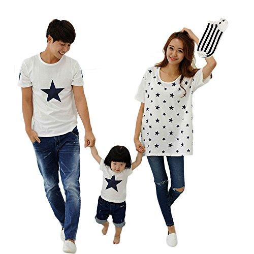 AIKOSHA NETWORK ホワイト 男XL レディース キッズ メンズ 半袖 Tシャツ & 靴下 のセット商品 ペアルック お揃い 親子 コットン ビッグシルエット 星