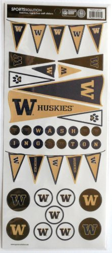 Sports Solution Washington Huskies Pennant Sticker - 1