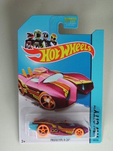 Prototype H-24 (Dark Pink) Diecast Car (Hot Wheels)