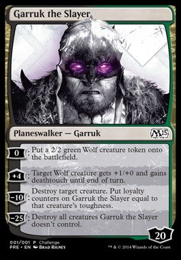 Magic: the Gathering - Garruk the Slayer (001/001) - Oversize Promo