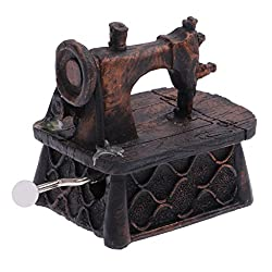 Generic Resin Vintage Style Hand-cranked Music Box Home Decor Gifts - Sewing Machine