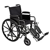 Best Choice Products® Folding Wheelchair Full Armrests &...