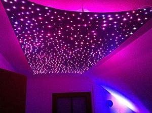 sternenhimmel led set beleuchtung twin star in glasfaser optik 400 lichtfasern 1 0mm inkl. Black Bedroom Furniture Sets. Home Design Ideas
