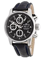 Fortis Men's 597.20.71 LC.05 Flieger Chronograph Automatic Day and Date Limited Edition Leather Croc Watch