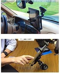 Gioiabazar Car Windshield & Desk Top Mount Bracket Holder for iPad 1/2/3/4 Universal Tablet