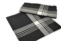 Black Plaid Cotton Napkins - Set of 4