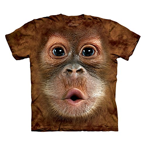 The Mountain Big Face Orangutan Adult Shirt (Pinecone, Large)