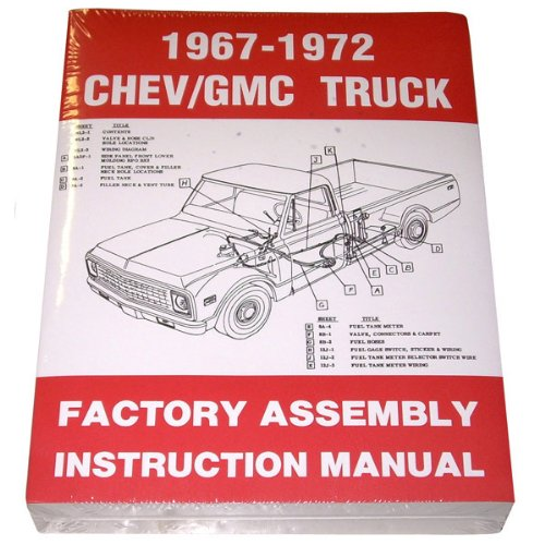 1967-1972 Chevrolet Truck Factory Assembly Instruction Manual Reprint (1972 Chevy Truck Parts Used compare prices)