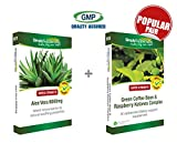 SimplySupplements Aloe Vera 6000mg 120 tablets + Green Coffee Bean & Raspberry Ketones Complex 60 capsules Complete detox package Support weight loss