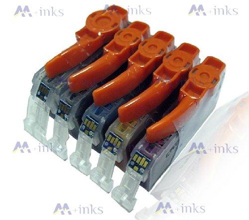 5x Druckerpatronen Kompatibel für Canon PGI-550 CLI-551 mit CHIP und Füllstandanzeige für Canon Pixma iP7250 IP8750 IX6850 MG5450 MG5550 MG6350 MG6450 MG7150 MX725 MX925 Tintenpatronen PGI550BK CLI551C CLI551M CLI551Y und CLI551BK