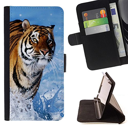 [A-type] Unique Pattern Hard Protective Back Case Cover Shell Skin Motorola NEXUS 6 / Moto X / Moto X Pro [Tiger Blue Water Nature Sun Summer] (Blue Tiger Pro compare prices)