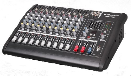 Gtd Audio BM-228 500Watt 10 Channel Audio Powered Mixer