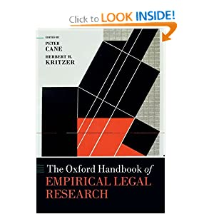 The Oxford Handbook of Empirical Legal Research (Oxford Handbooks in Law) Peter Cane and Herbert Kritzer