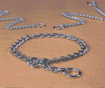 Extra Heavy Choke Chain Dog Collar Size: 24