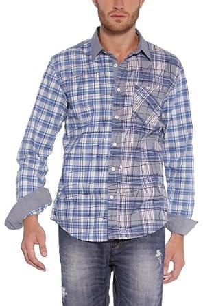 desigual chemise homme bleu medium v tements et accessoires. Black Bedroom Furniture Sets. Home Design Ideas