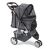OxGord Pet Stroller Cat Dog 3 Wheel Easy Walk Jogger Travel Folding Carrier