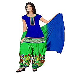 Govardhan Fashion Blue and Green colour cottan Unstitched Dress Material