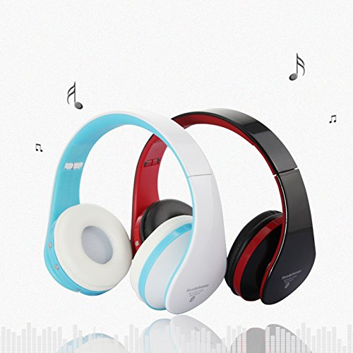 Dbpower Universal Pc/Stereo Gaming Headset Bluetooth Stereo Headphones, Music Streaming Wireless Over-Ear Headphones (White+Blue)