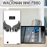 SONY WALKMAN NW-F880 カバー/ケース  ワンポイント(羽)  ソニー ウォークマン F-880 TPU素材 ソフトケース・カバー