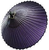 はんなり蛇の目傘 和傘 番傘 紫