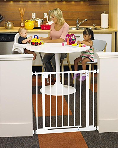 North States Industries Supergate Easy Close Metal Gate, Bronze front-1081633