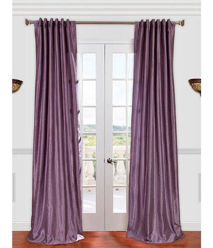 Wilko Faux Silk Eyelet Curtains Plum 167 X 137cm: Vintage Textured Faux Dupioni Silk Curtain, Smokey Plum