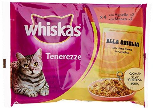 Whiskas – Tenerezze Carne Grigliata, 85g (Confezione da 4)