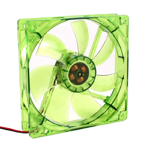 120Mm X 25Mm Blue Led Desktop Pc Case Cooling Fan Green Dc 12V