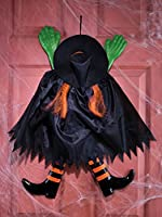 Fun World Funny Backwards Witch Orange Hanging Halloween Decoration from Fun World