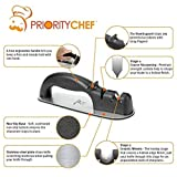 PriorityChef Precision Knife Sharpener, Designed To Create Sharp, Hollow-Finish Knife Edge, Patented Manual Tool with Non-Slip Steel Bottom - Safe and Easy to Use