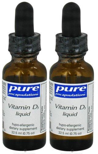 Vitamin D3 Liquid - Pure Encapsulations - 22.5Ml (Pack Of 2)