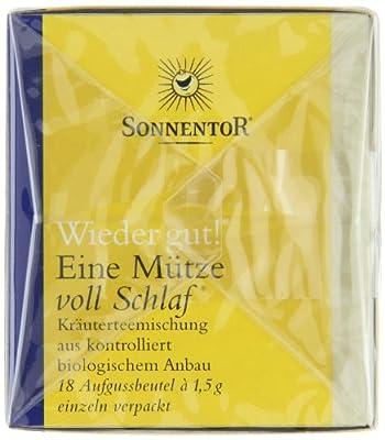Sonnentor Tee Eine Mütze voll Schlaf - Wieder gut! Doppelkammerbeutel, 2er Pack (2 x 27 g) - Bio von Sonnentor - Gewürze Shop