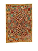 Design Community By Loomier Alfombra Kelim Kaudani Big (Marrón/Multicolor)
