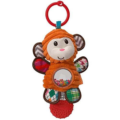 Infantino See!Play!Go! Shake-a-Belly Activity Rattle Monkey - 1