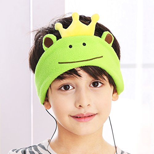 Kids Headphones - NEW RELEASE - Easy Adjustable Kids costume Headband Headphones for Children, Perfect for Travel and Home -Prince of Frog